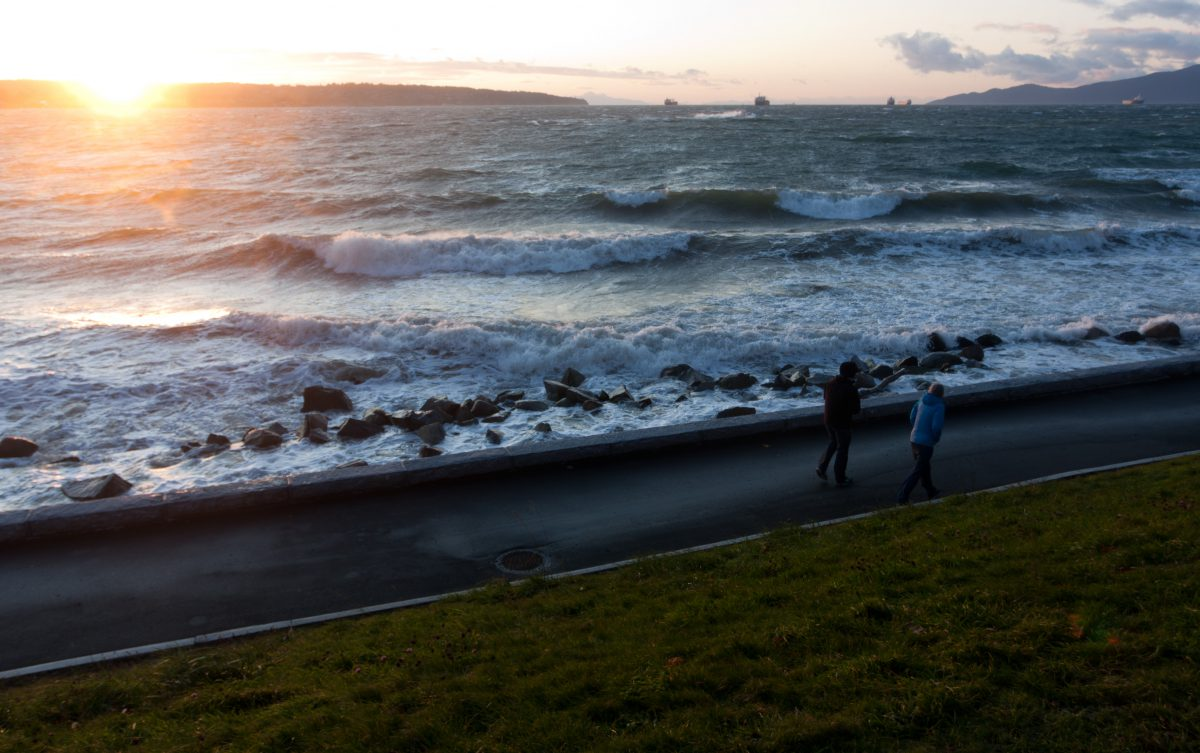 sea, sunset, wave