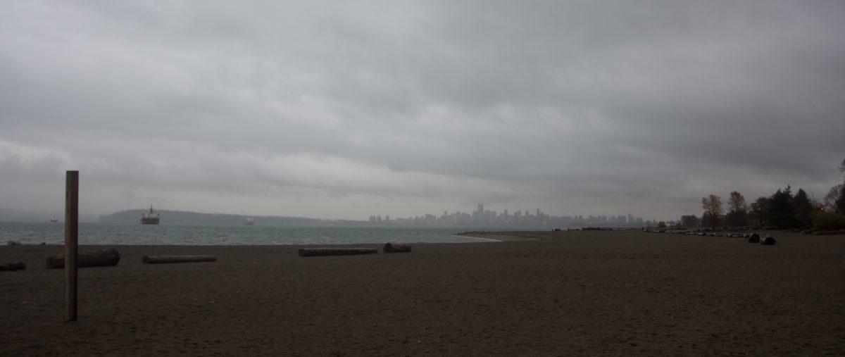 sea, cloud, autumn, beach