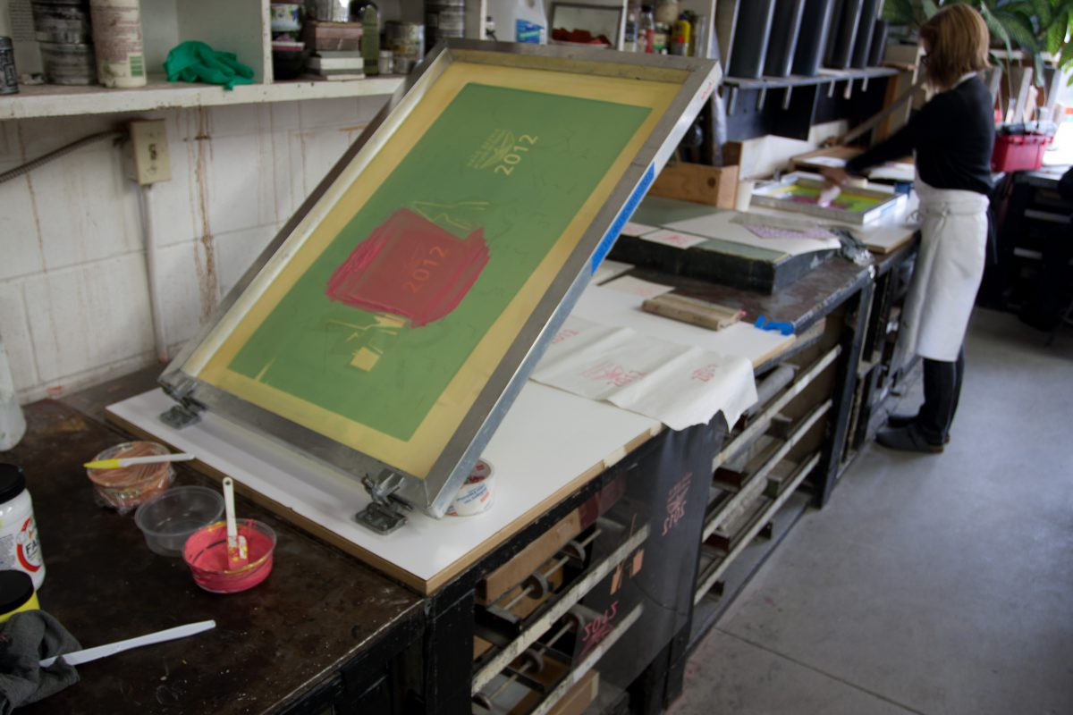 Silk screen - At Malaspina Studio, silkscreen, ch3
