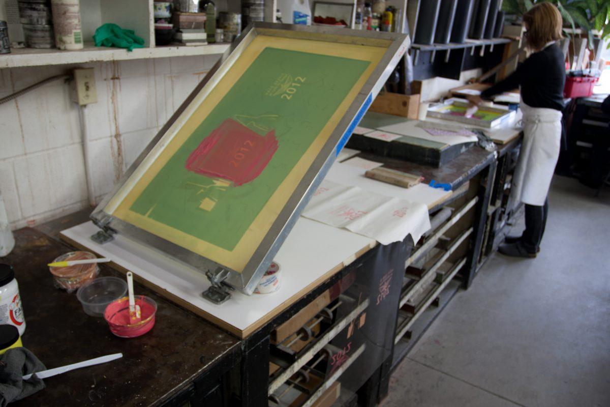 Silk screen - At Malaspina Studio, silkscreen, ch3
