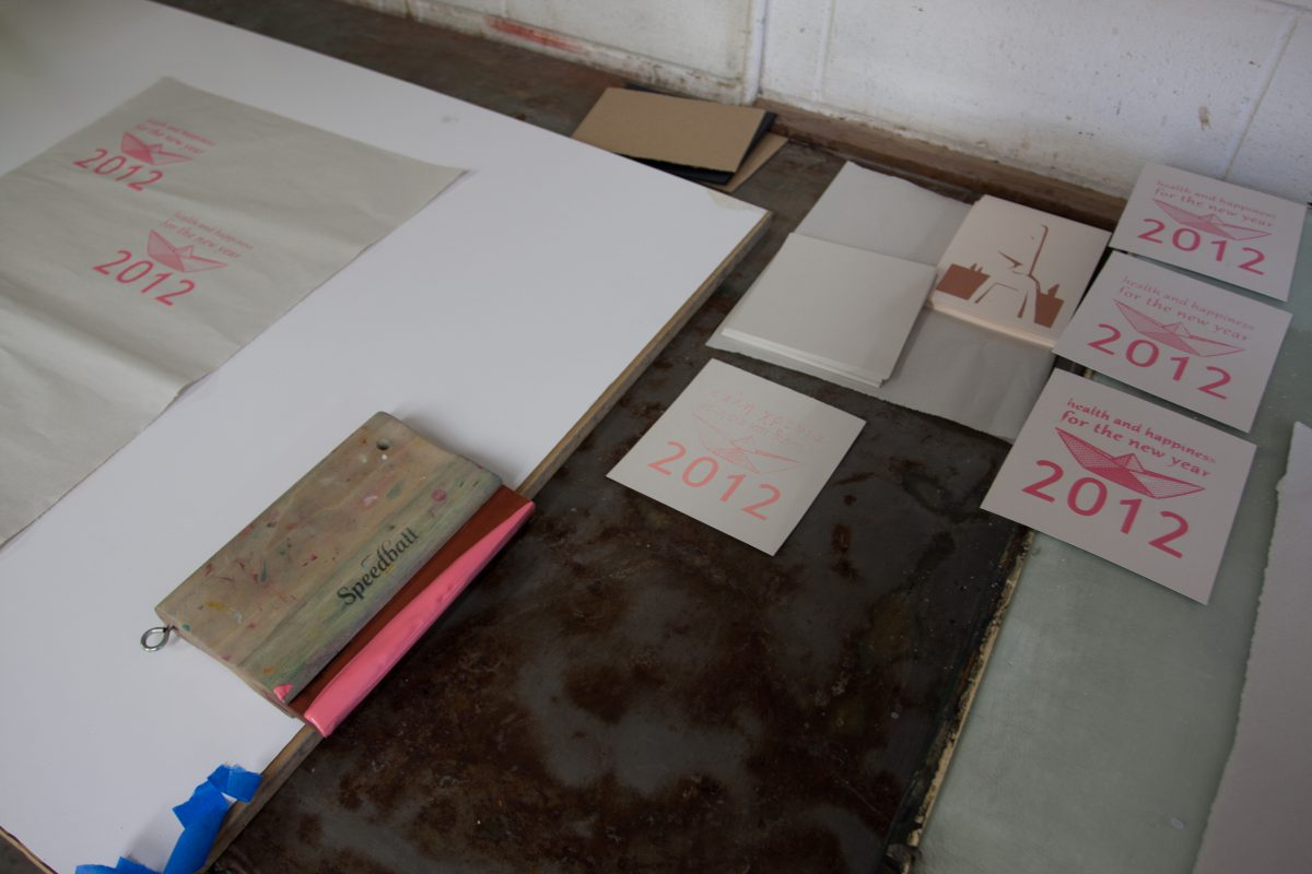 The first copies - At Malaspina Studio, silkscreen, ch3