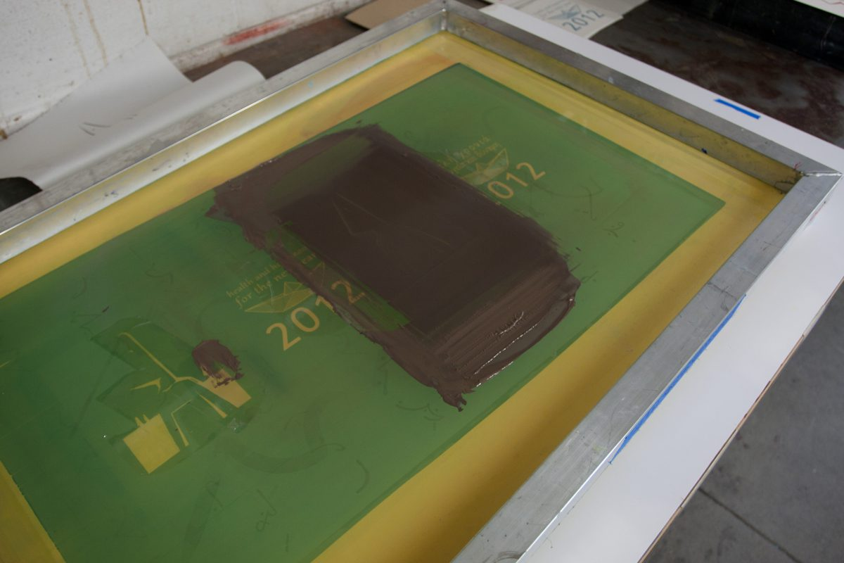 The outline - At Malaspina Studio, silkscreen, ch3