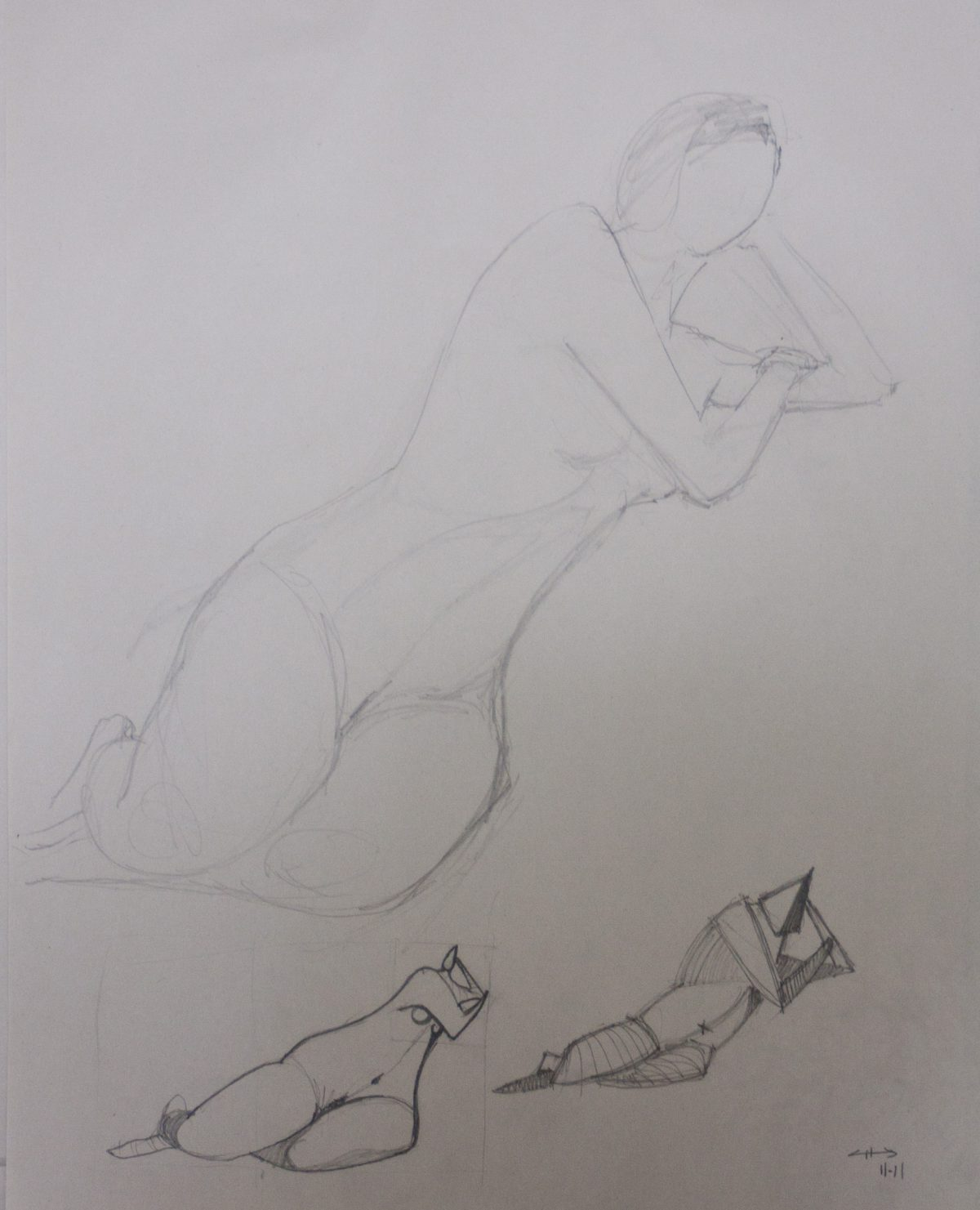 Life drawing - at Basic Enquiry studio.