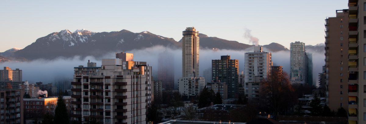 cloud, inversion, view, building, mountain