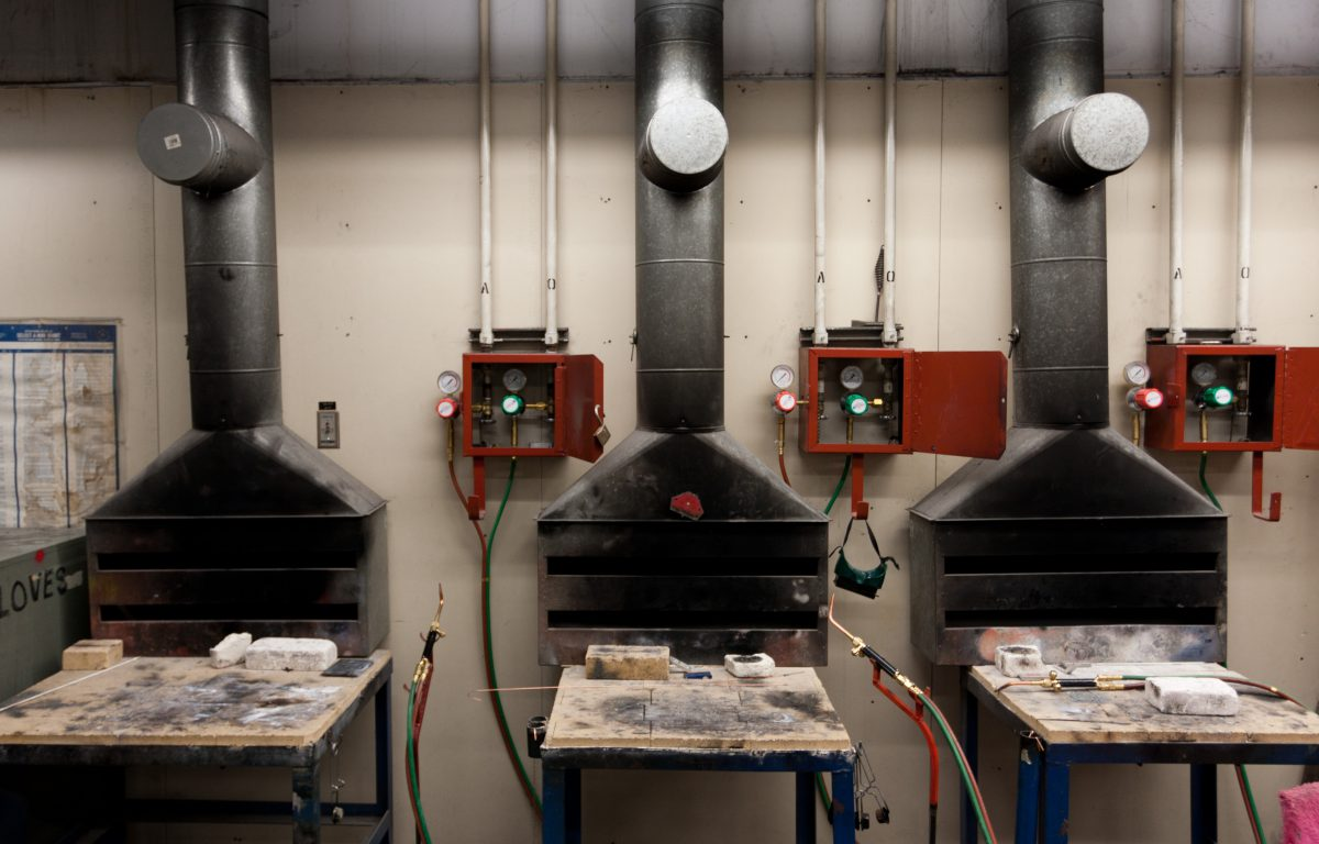 Metal welding - At Emily Carr University metal workshop, metal, workshop, foundry, gas, machine