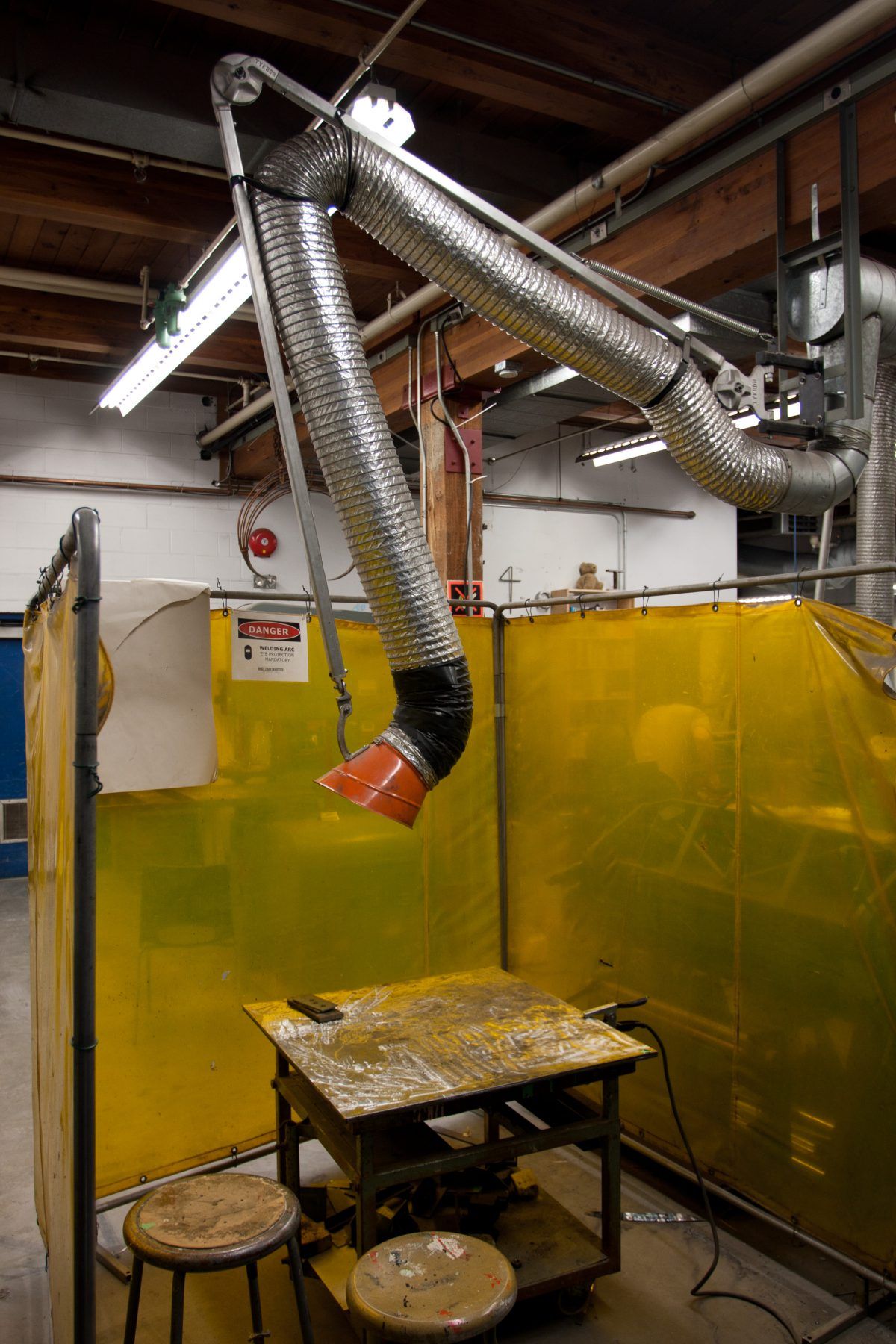 Pipe - At Emily Carr University metal workshop, metal, workshop, machine