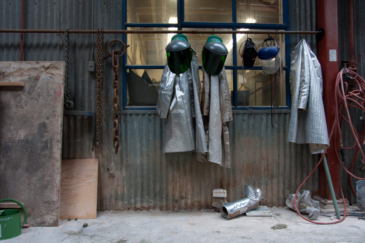 Protective clothes - At Emily Carr University metal workshop, workshop, protection