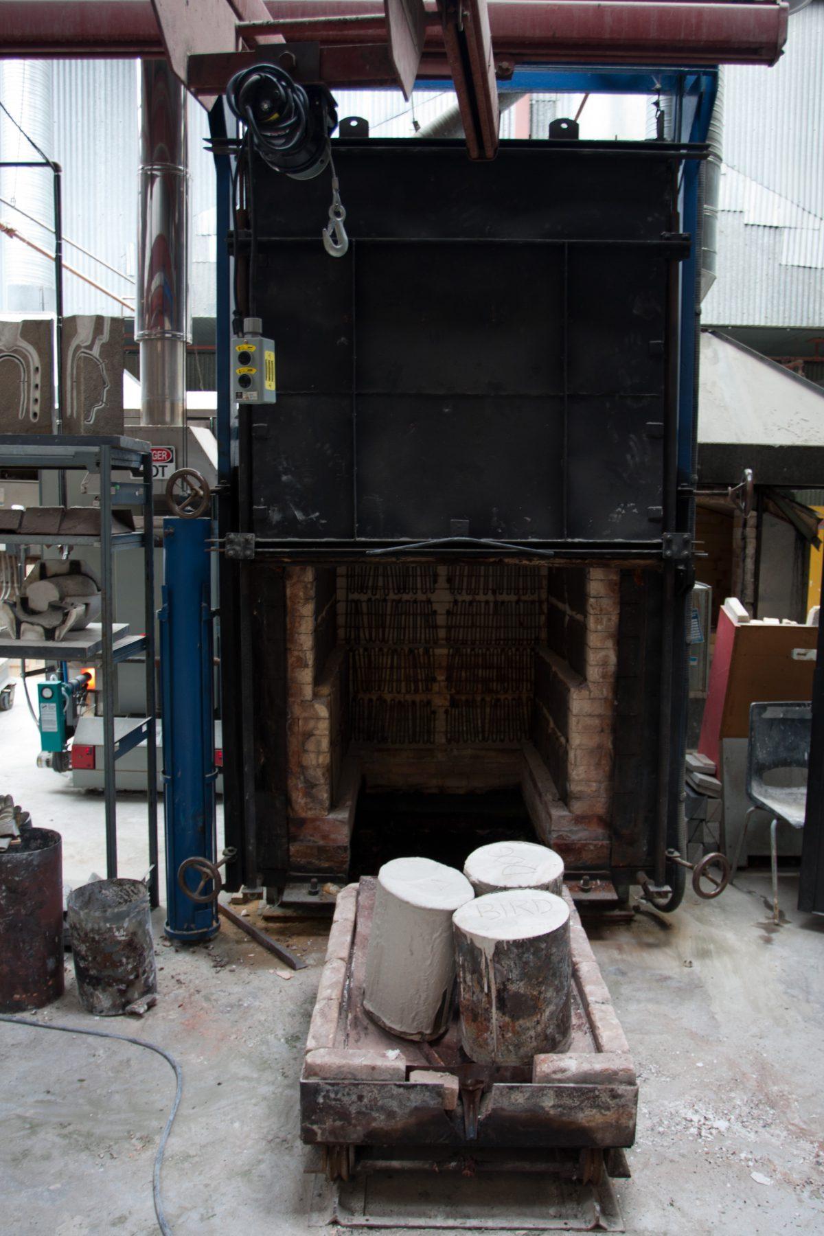 Kiln - At Emily Carr University metal workshop, workshop, machine, foundry