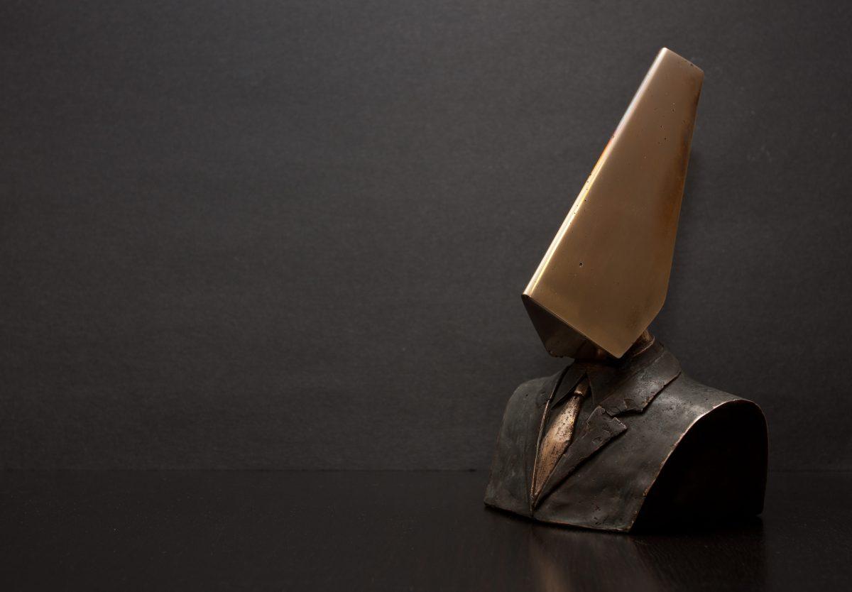 Conqueror - 21cm Bronze, bronze, ch3, sculpture, bust
