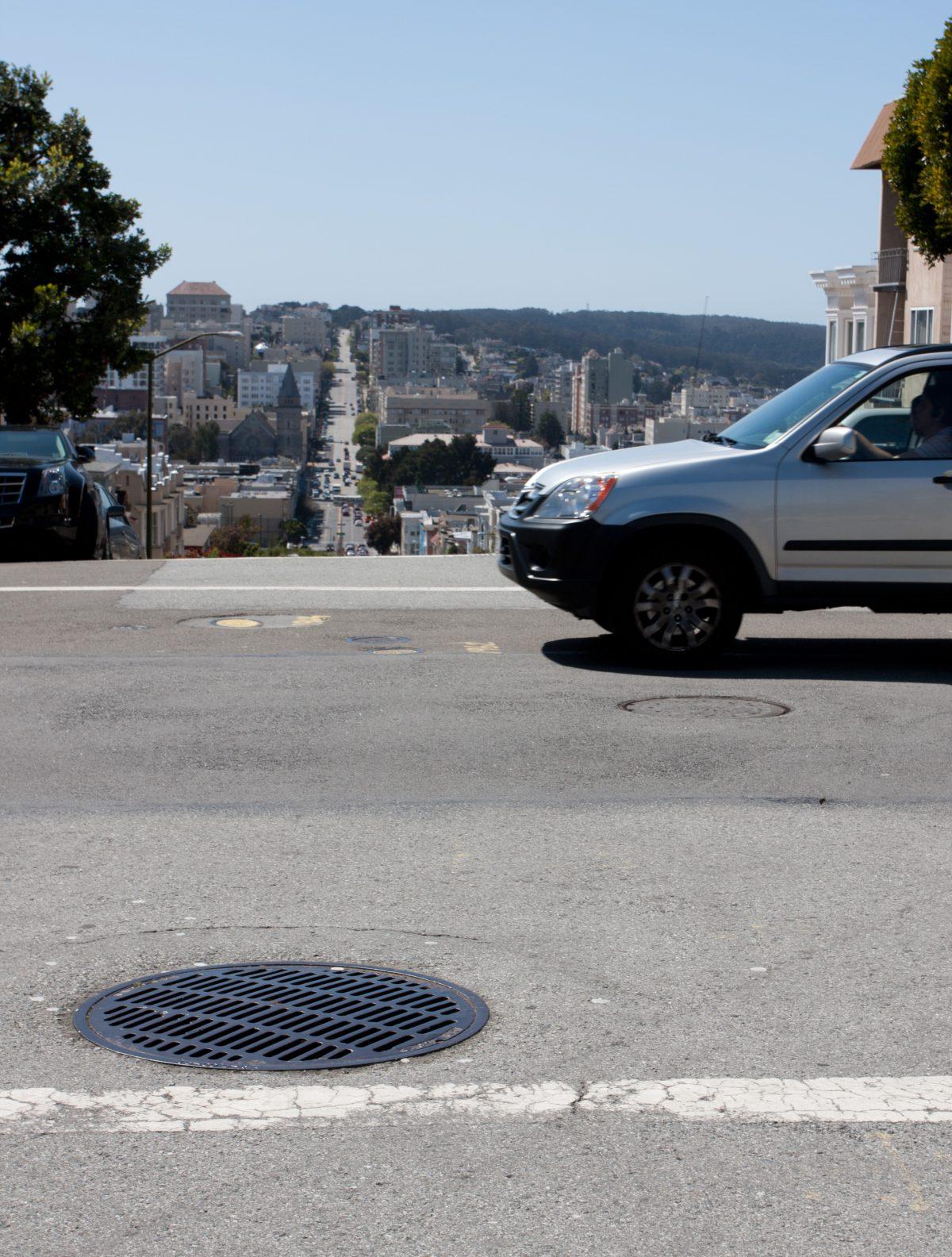 Urban Hills, road, car, hill, city