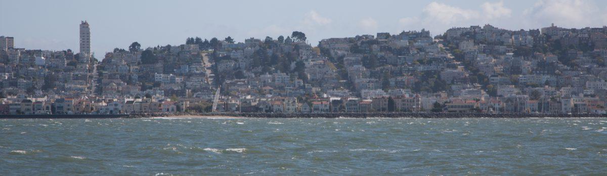 Marina District, view, sea, city