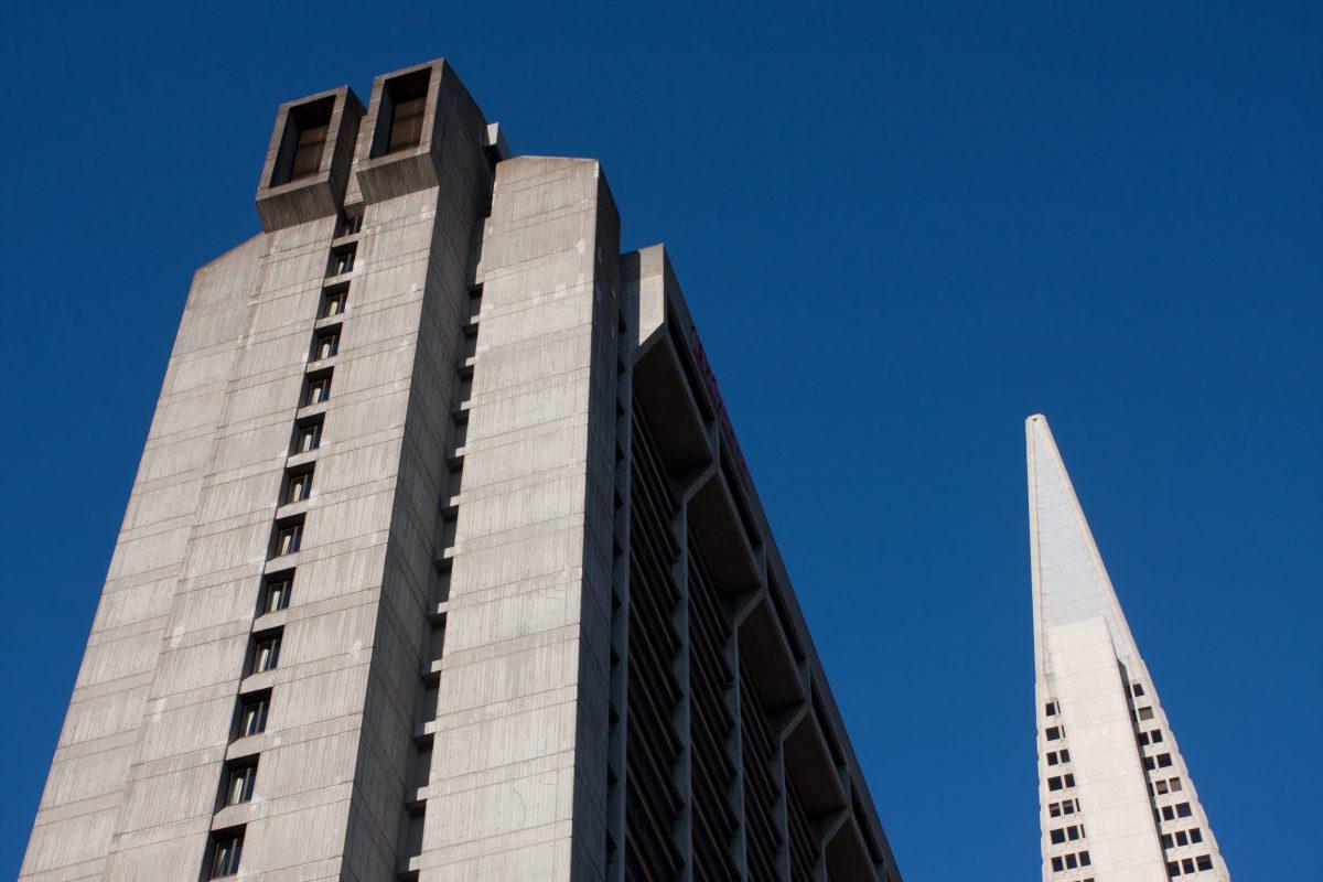Concrete sky, building