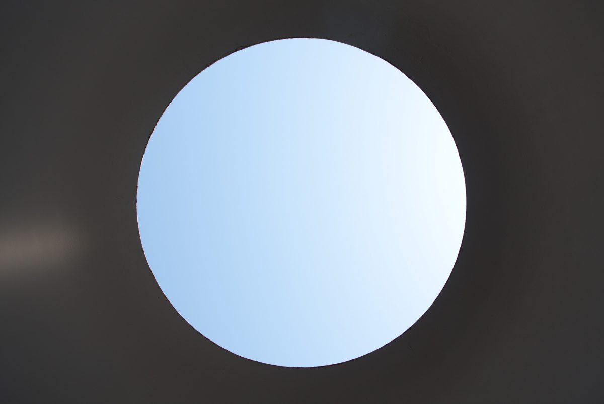 """Three Gems - A """"skyspace"""" sculpture by James Turrell at de Young Museum, sculpture"""