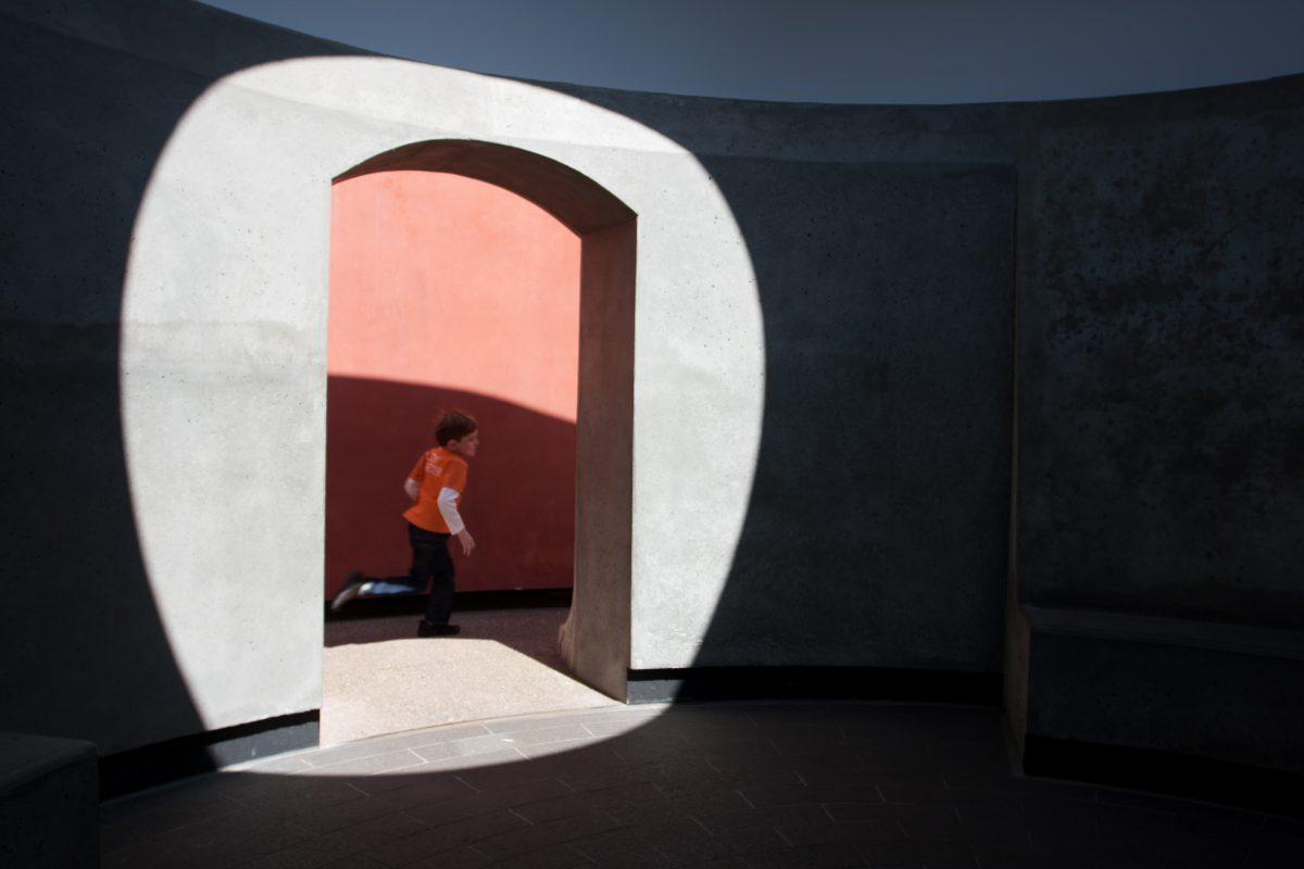 """Three Gems - A """"skyspace"""" sculpture by James Turrell at de Young Museum, museum, sculpture, kid"""