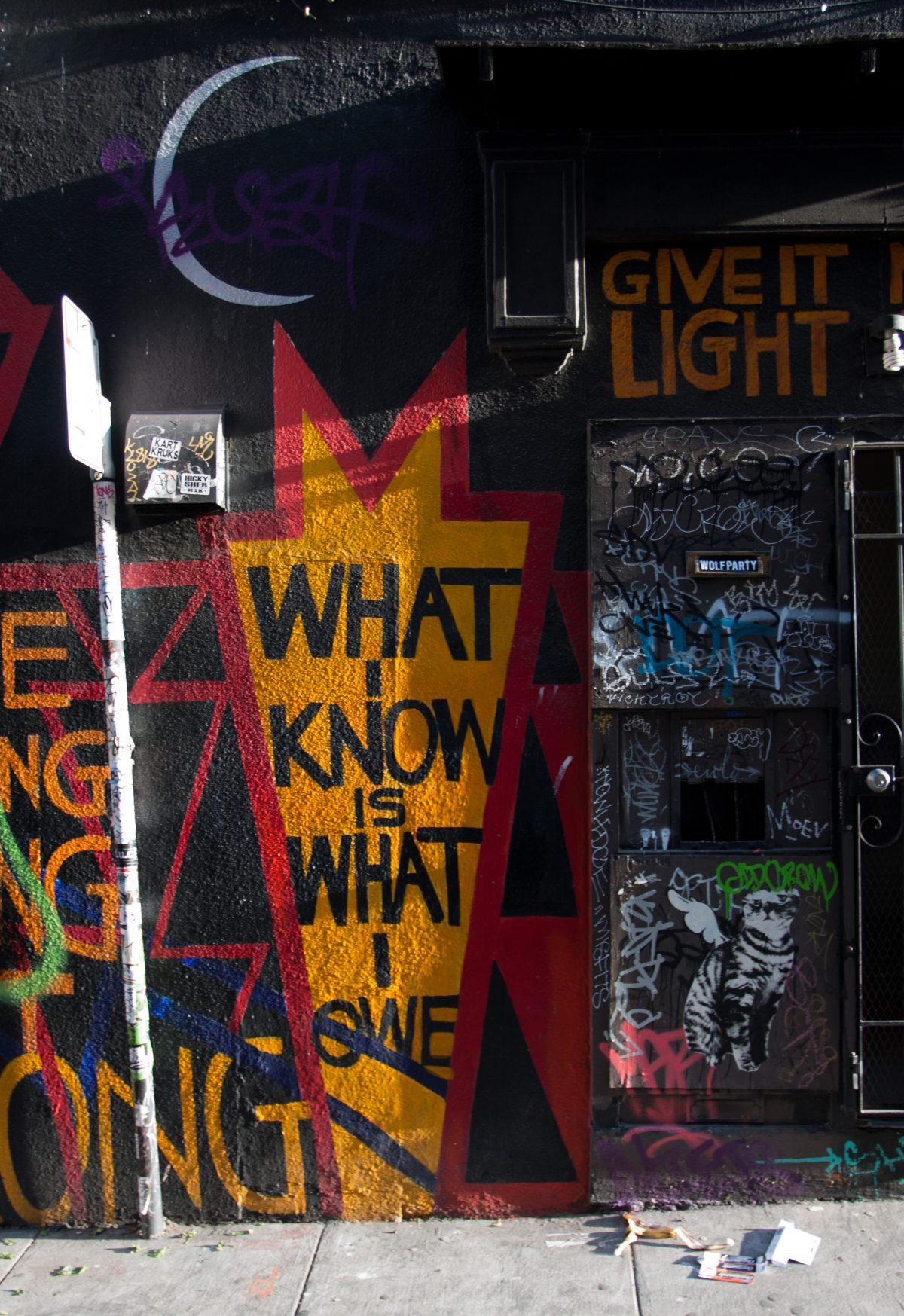 Back alley - around Misiion, graffiti