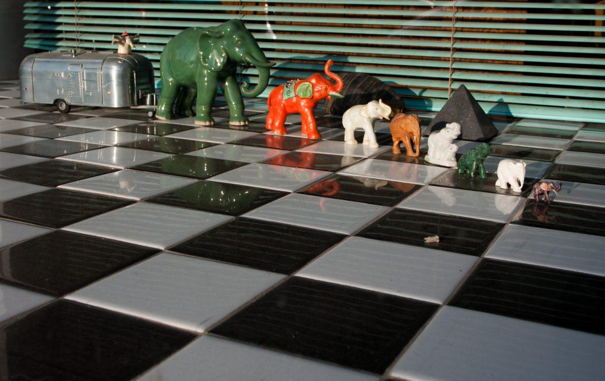 The elephant convoy, window