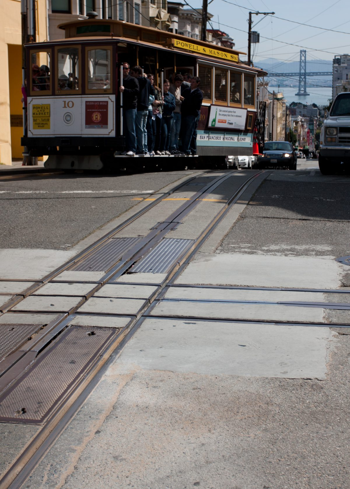 Cable car, vehicle, hill, road, cableCar