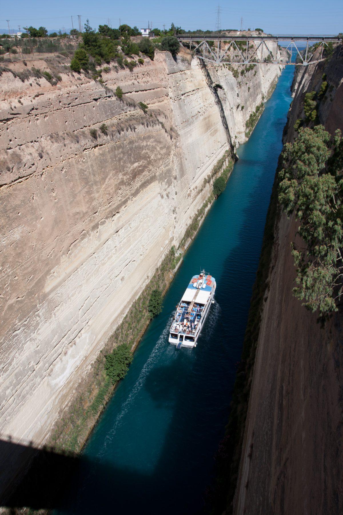 Korinthos Canal, canal, sea