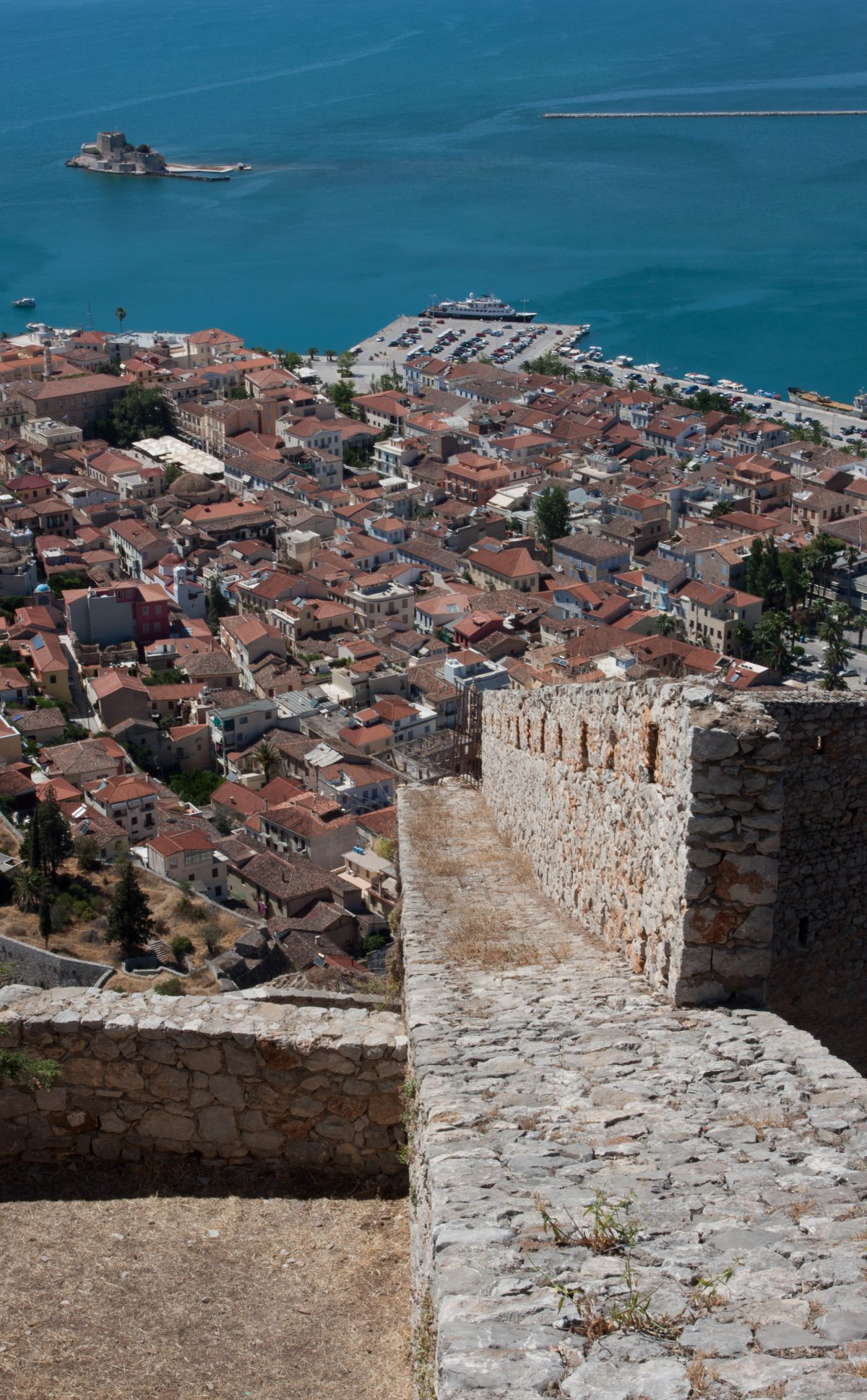 Nafplio, sea, view, city, landmark