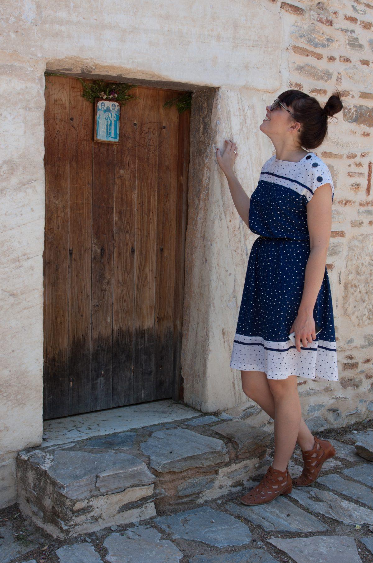 Brittany, portrait, door