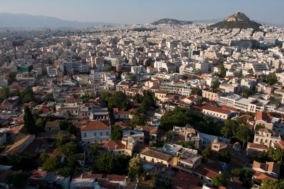 acropolis, view, city