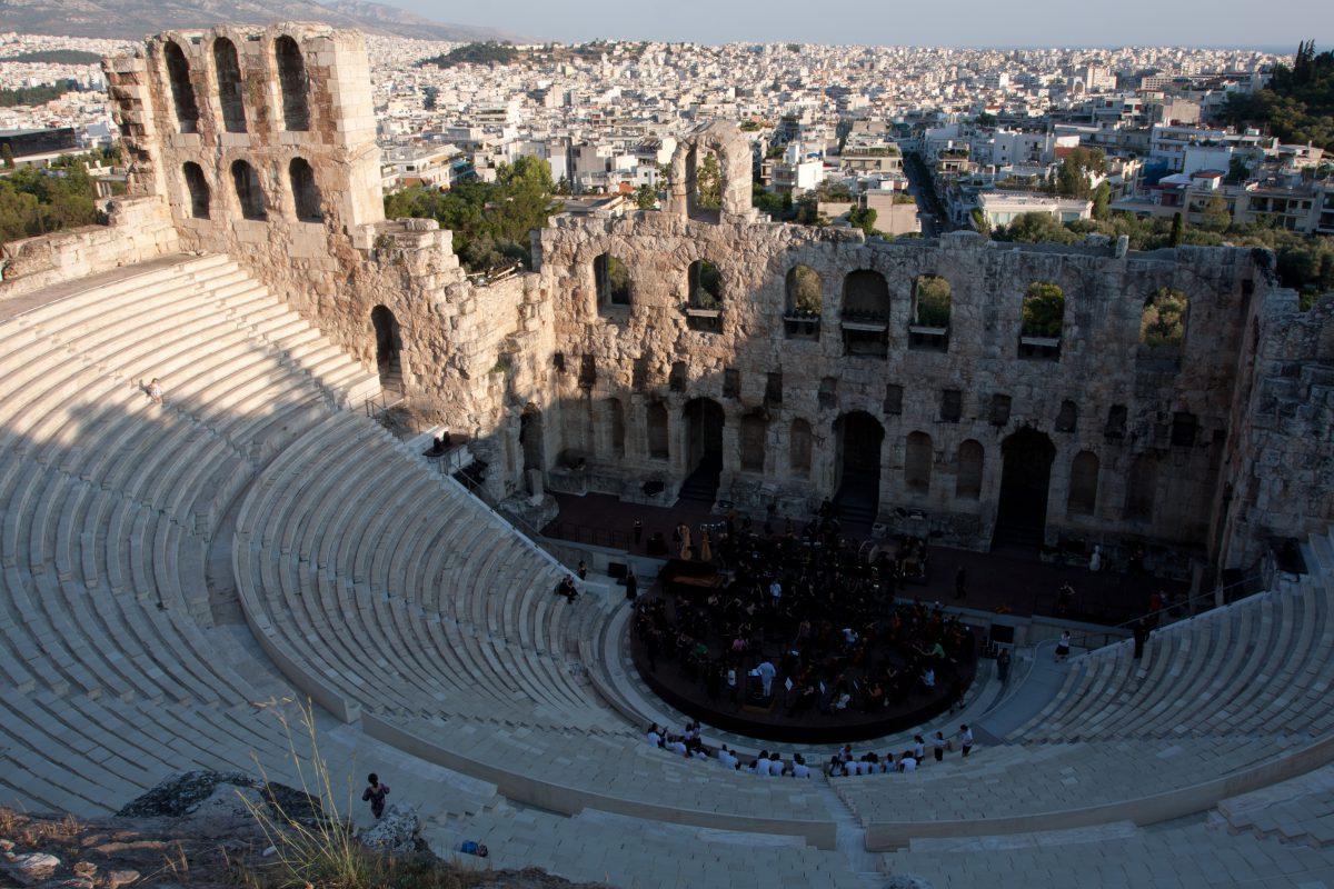 Theater of Herodes Atticus, acropolis, theater, landmark
