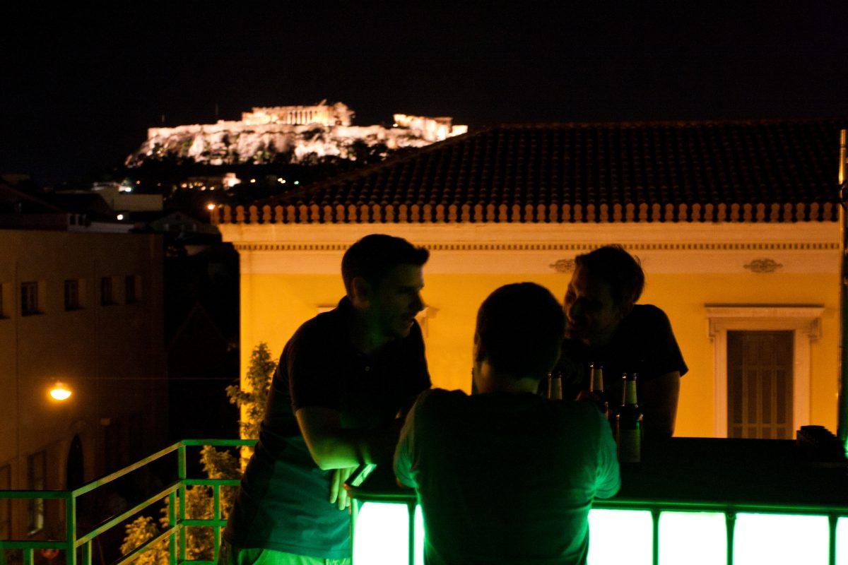 bar, night