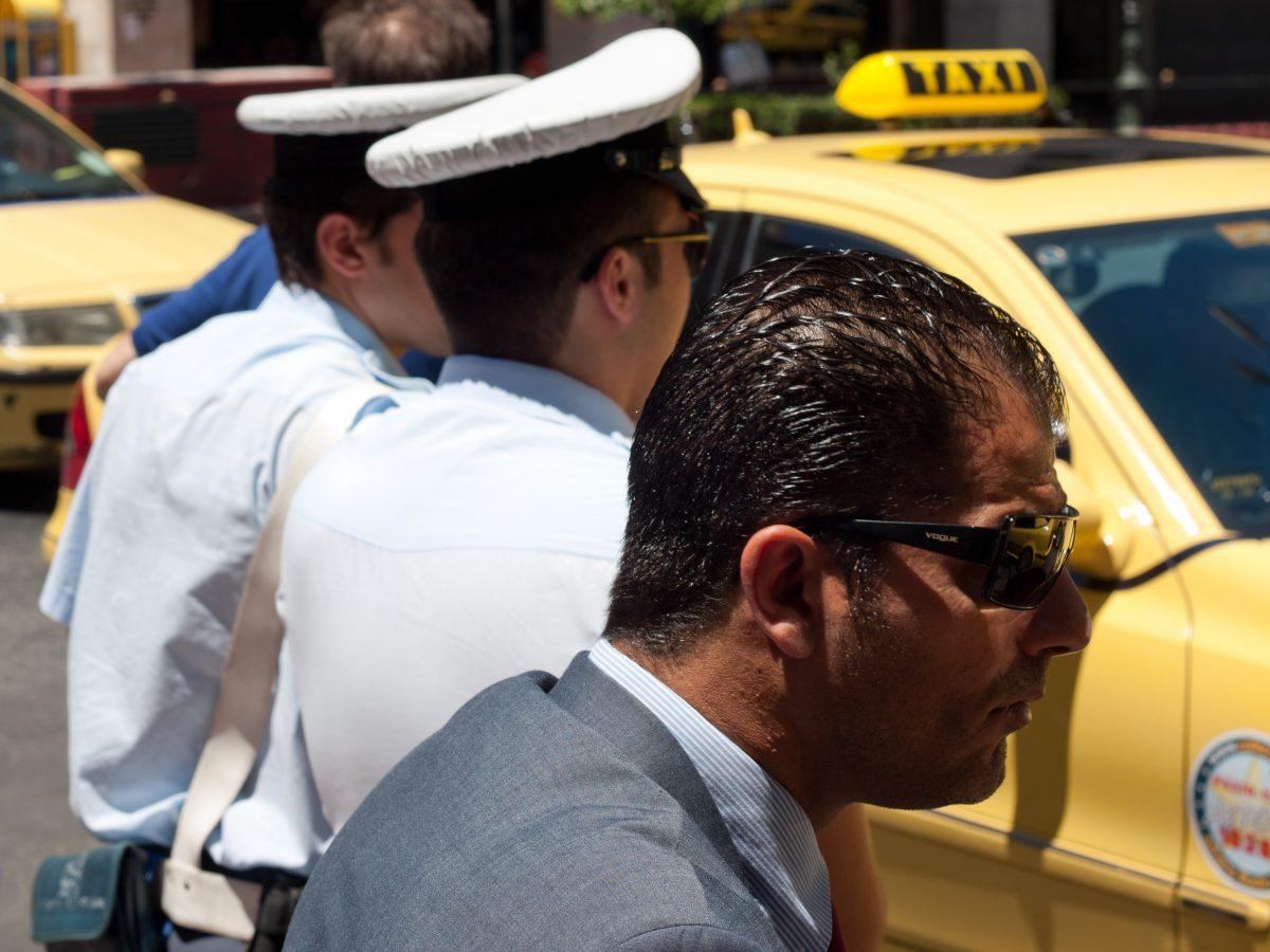 city, street, car, police, taxi