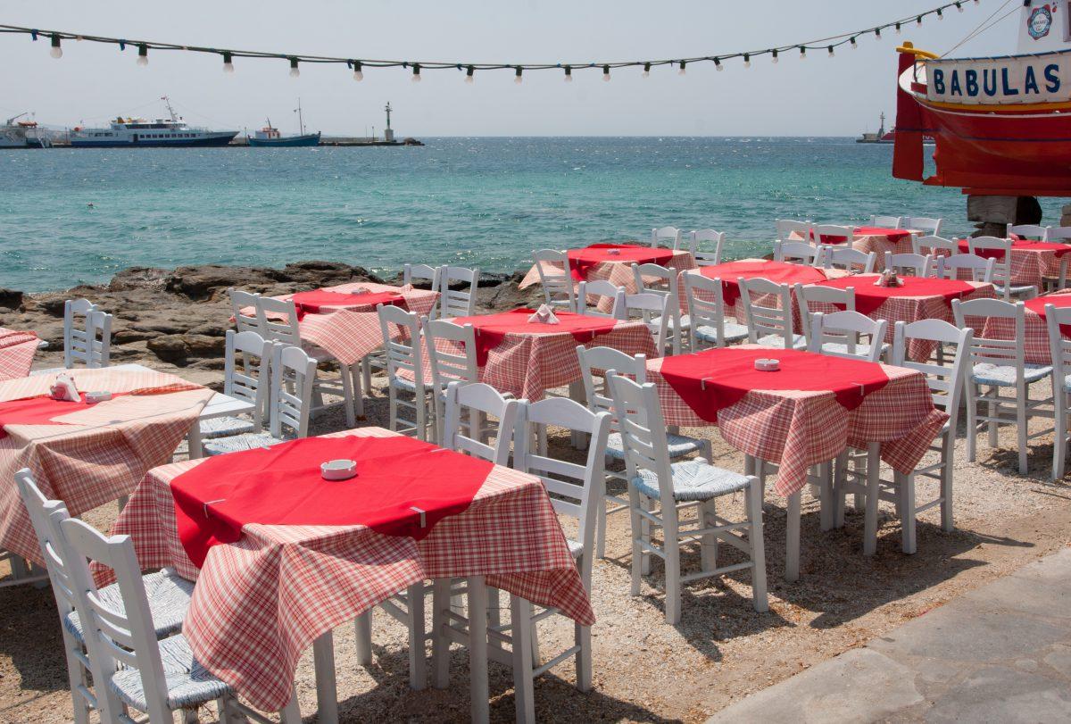 sea, table, restaurant, color