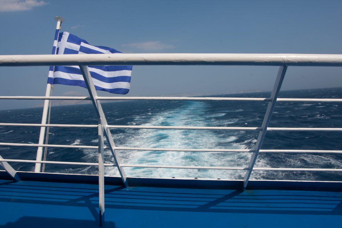 sea, boat, flag
