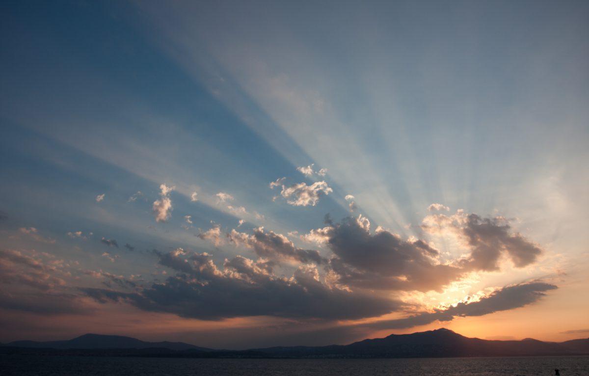 sunset, sky, cloud