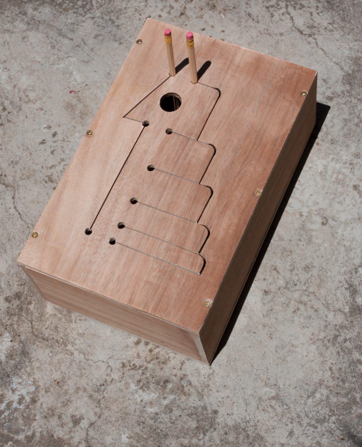 Xylophone - 40x25x10cm, plywood, ch3, wood