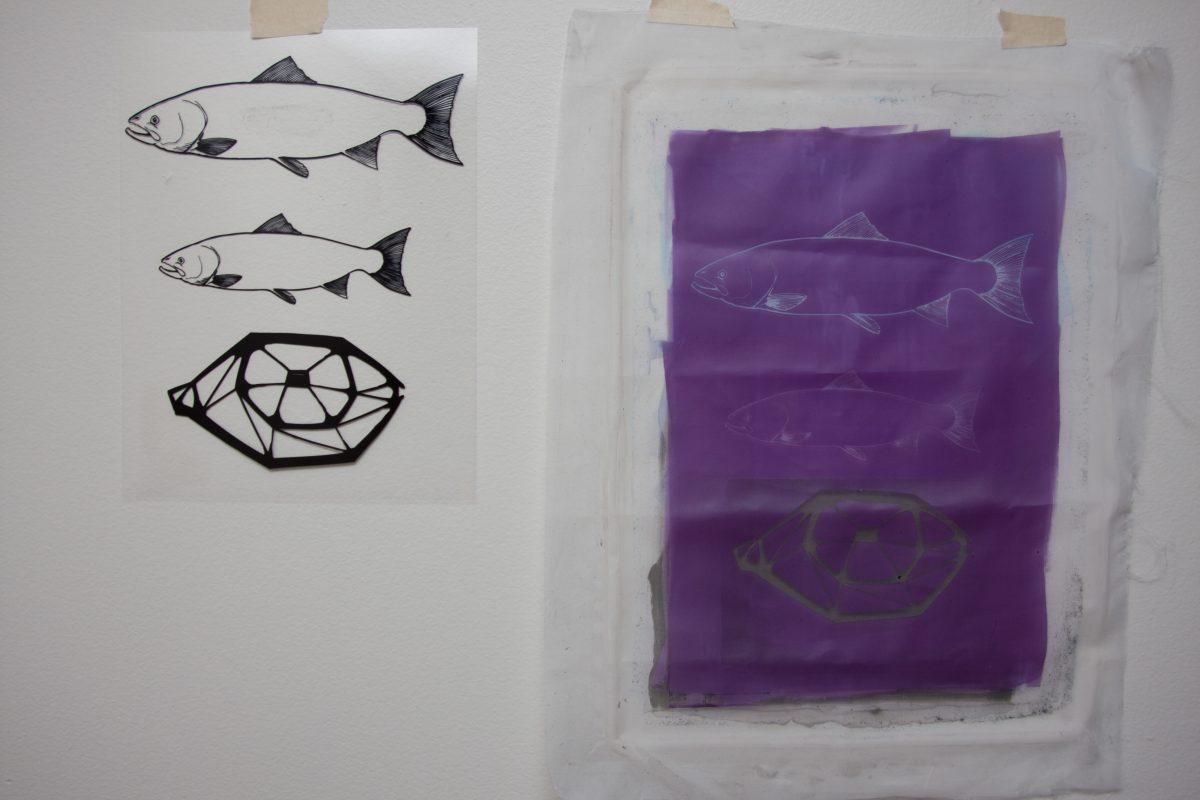 Fishes and an eye - Transparency and silkscreen, ch3, silkscreen, design