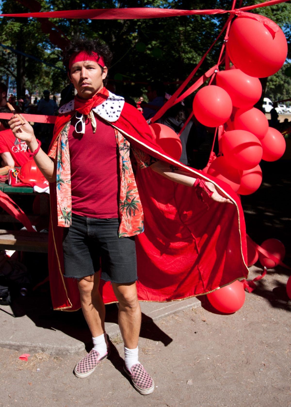 red, ballon
