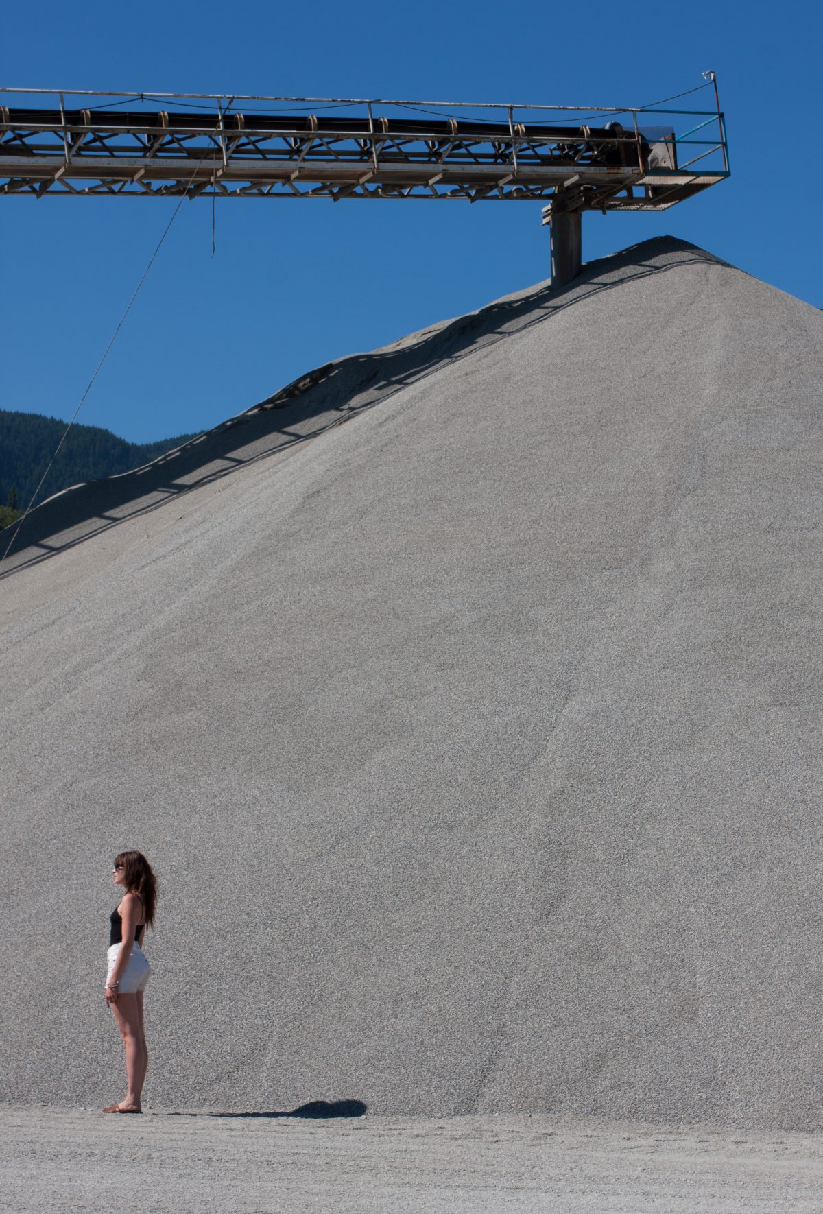 Pile, quarry, portrait