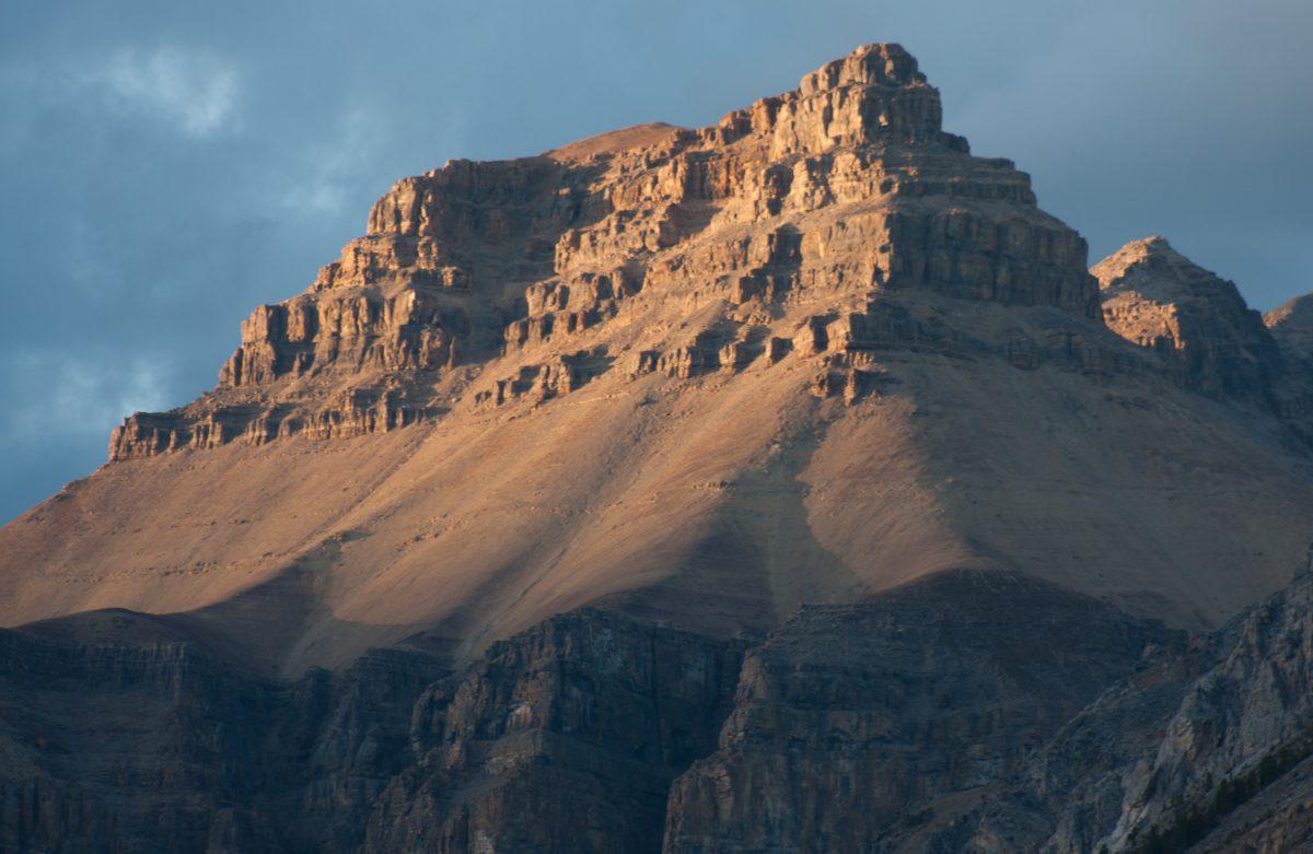 Rockies, mountain, sunset