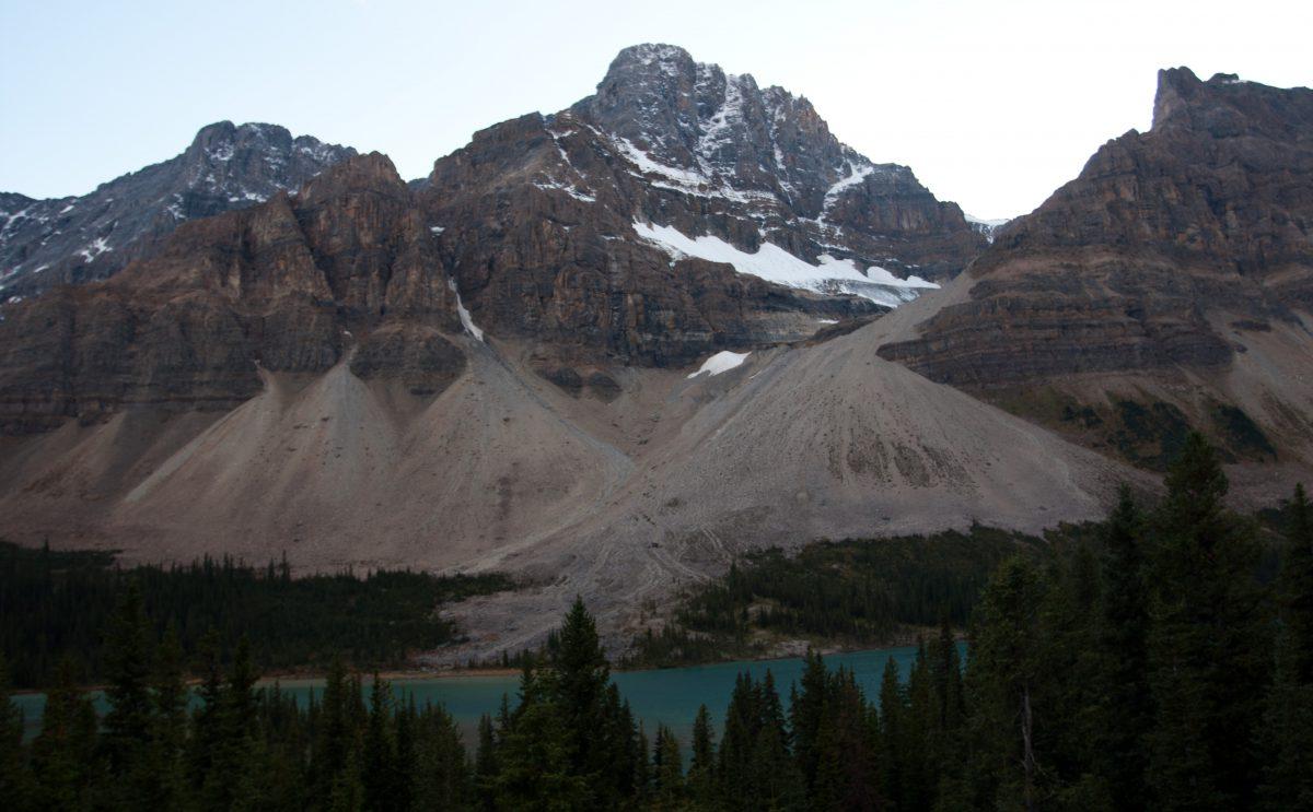 Rockies, lake, mountain, snow, glasier