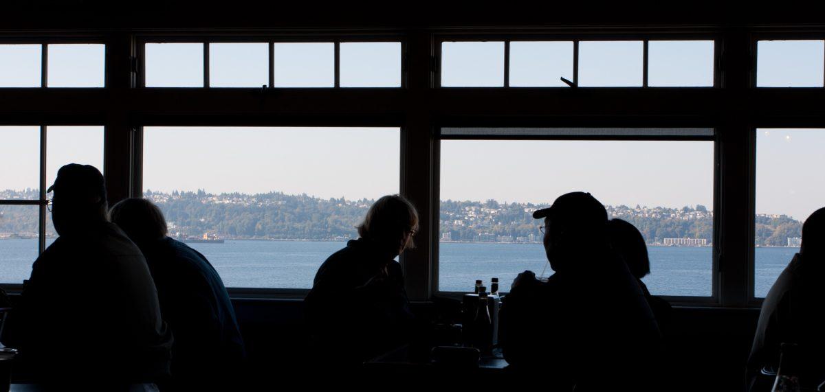 Pike Place Market, sea, window