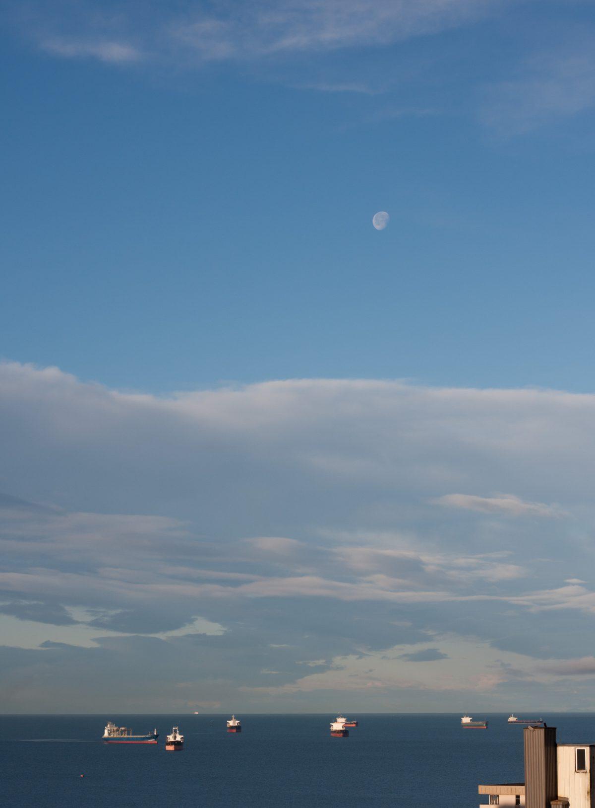 sea, boat, sky, cloud
