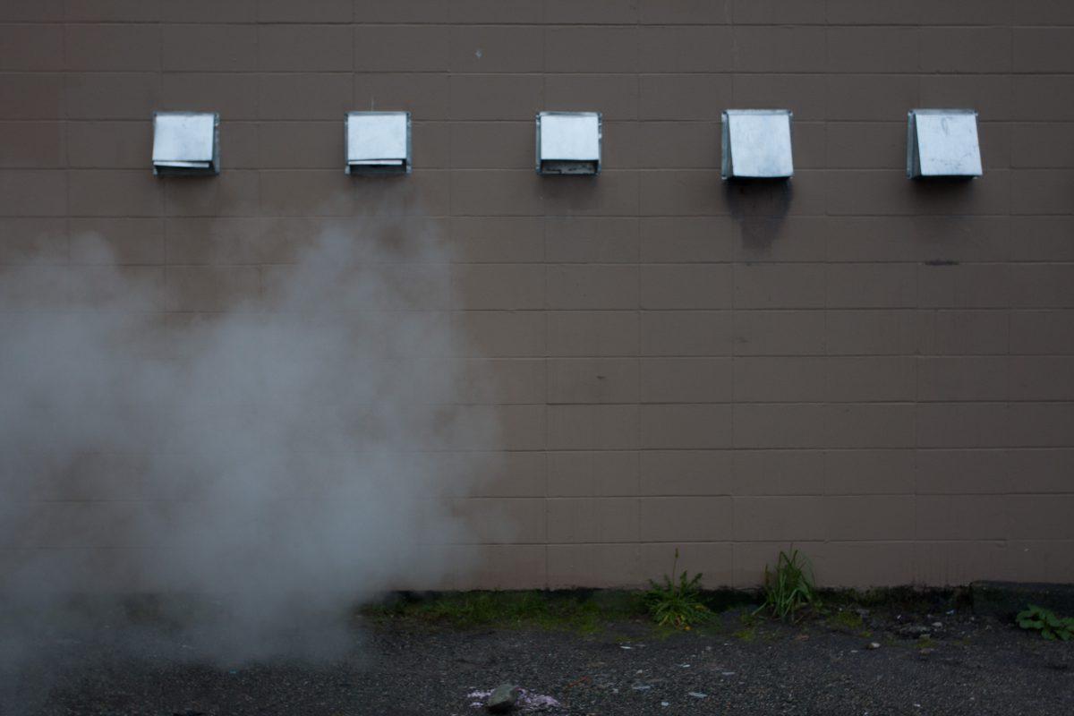 building, city, smoke
