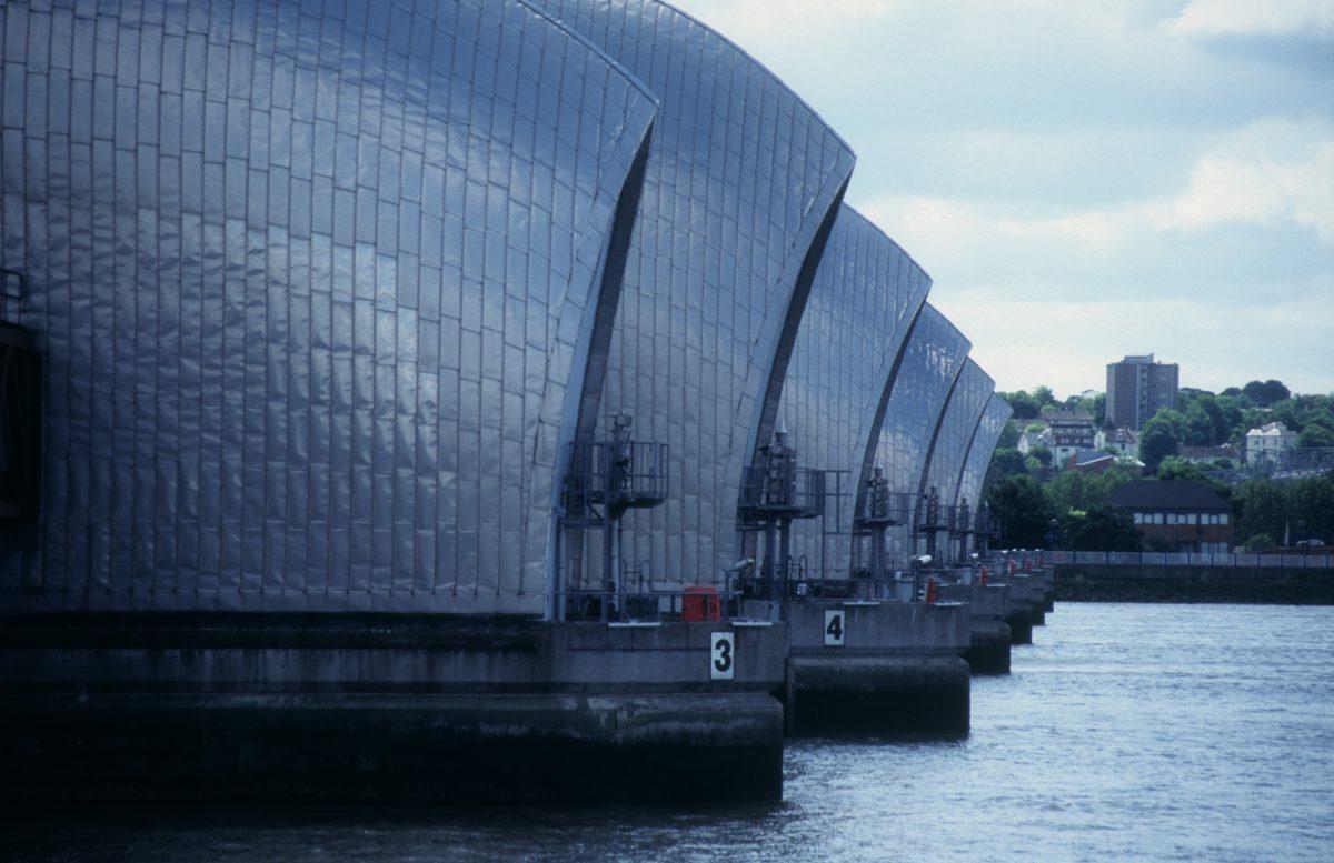 Thames Barrier, landmark, water