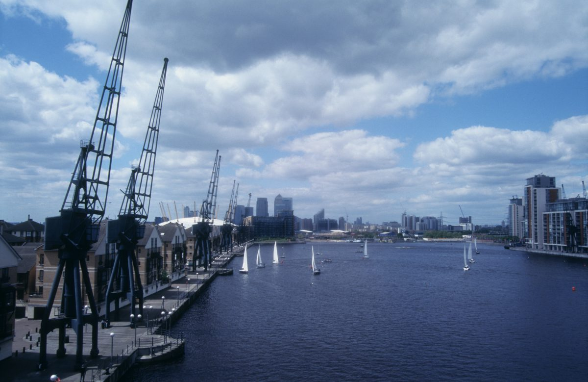 London city, water, boat
