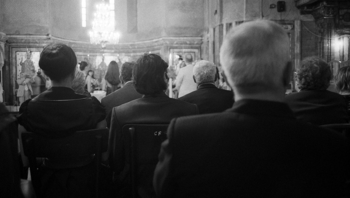 The wedding, people, church, bw