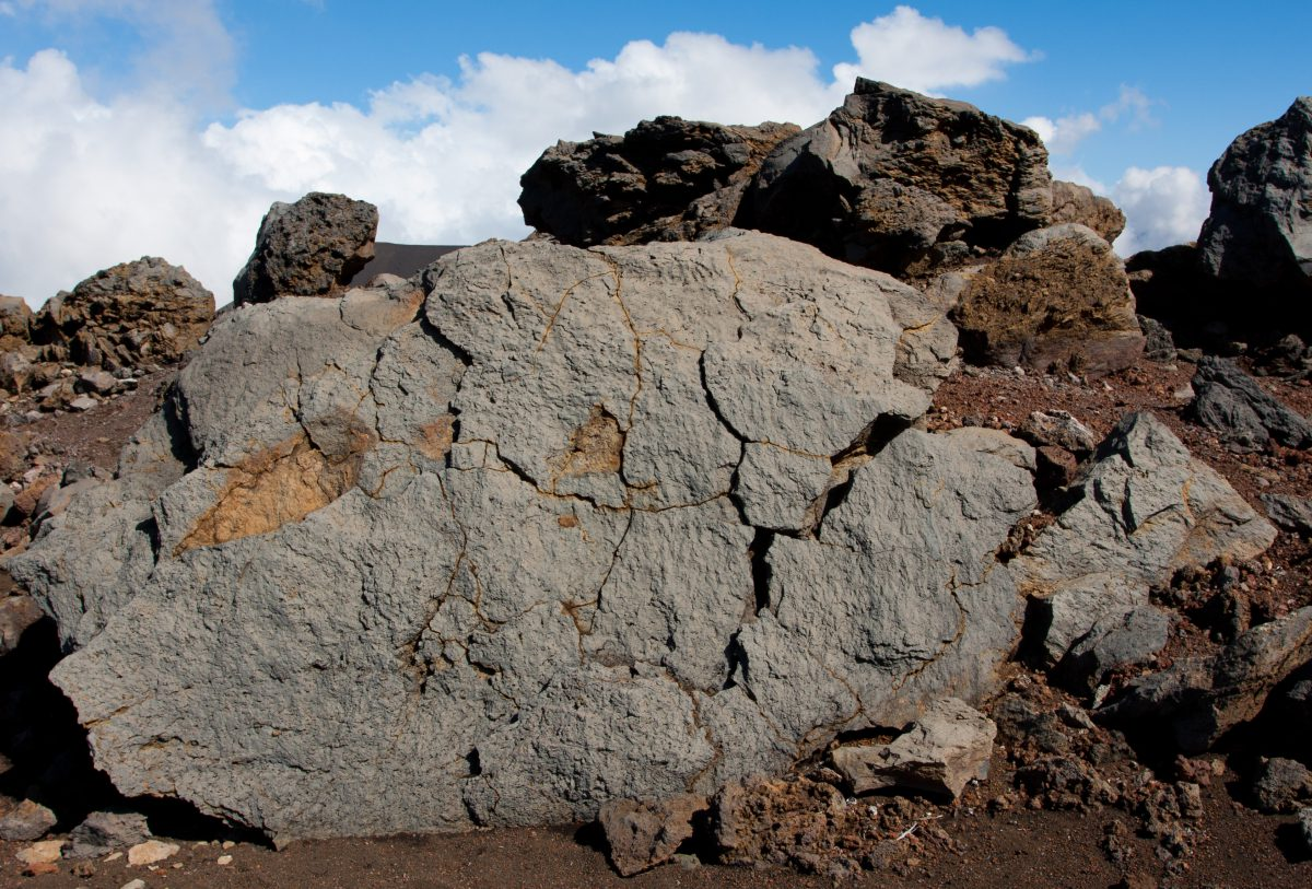 Haleakala, volcano, rock