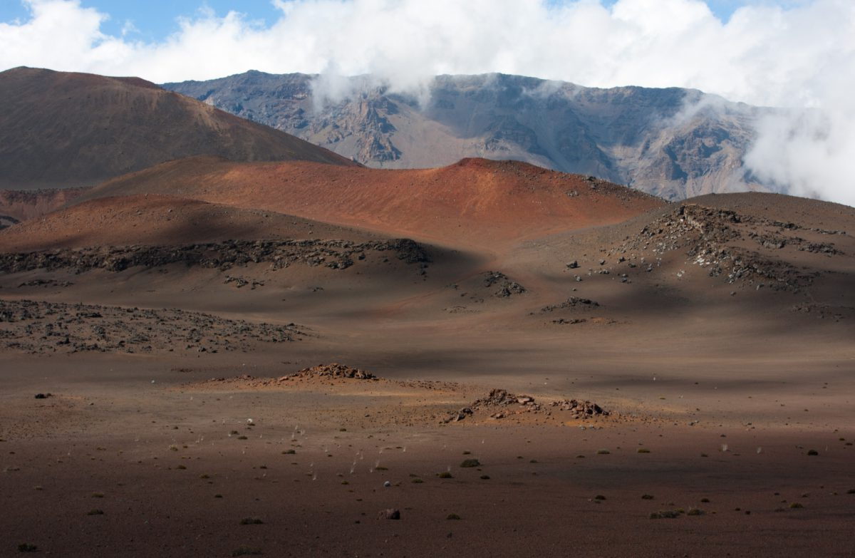 Haleakala, cloud, volcano