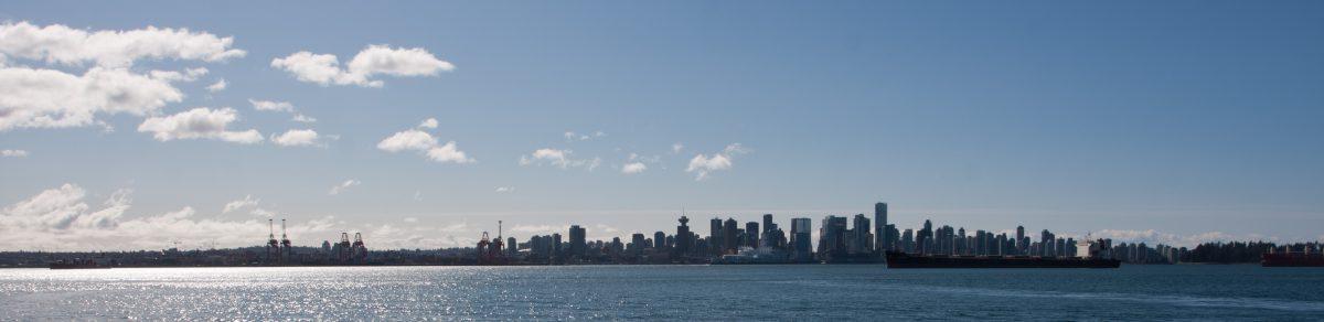 Vancouver skyline, sea, skyline