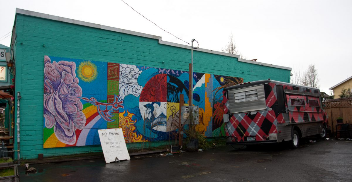 building, shop, graffiti