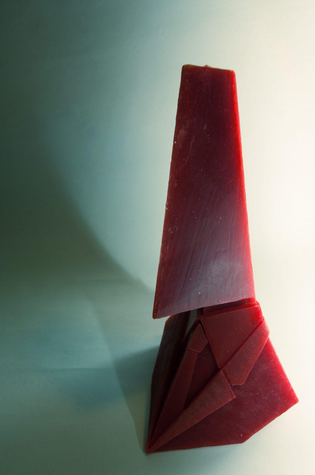 bust - 24cm wax, for casting, ch3, sculpture, wax, colorGrade, bust