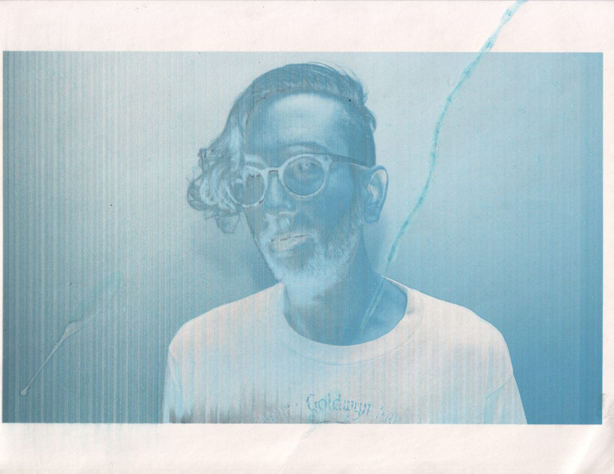 Adam - 28x22cm - Broken inject print, inkjet, glitch, print, ch3, portrait