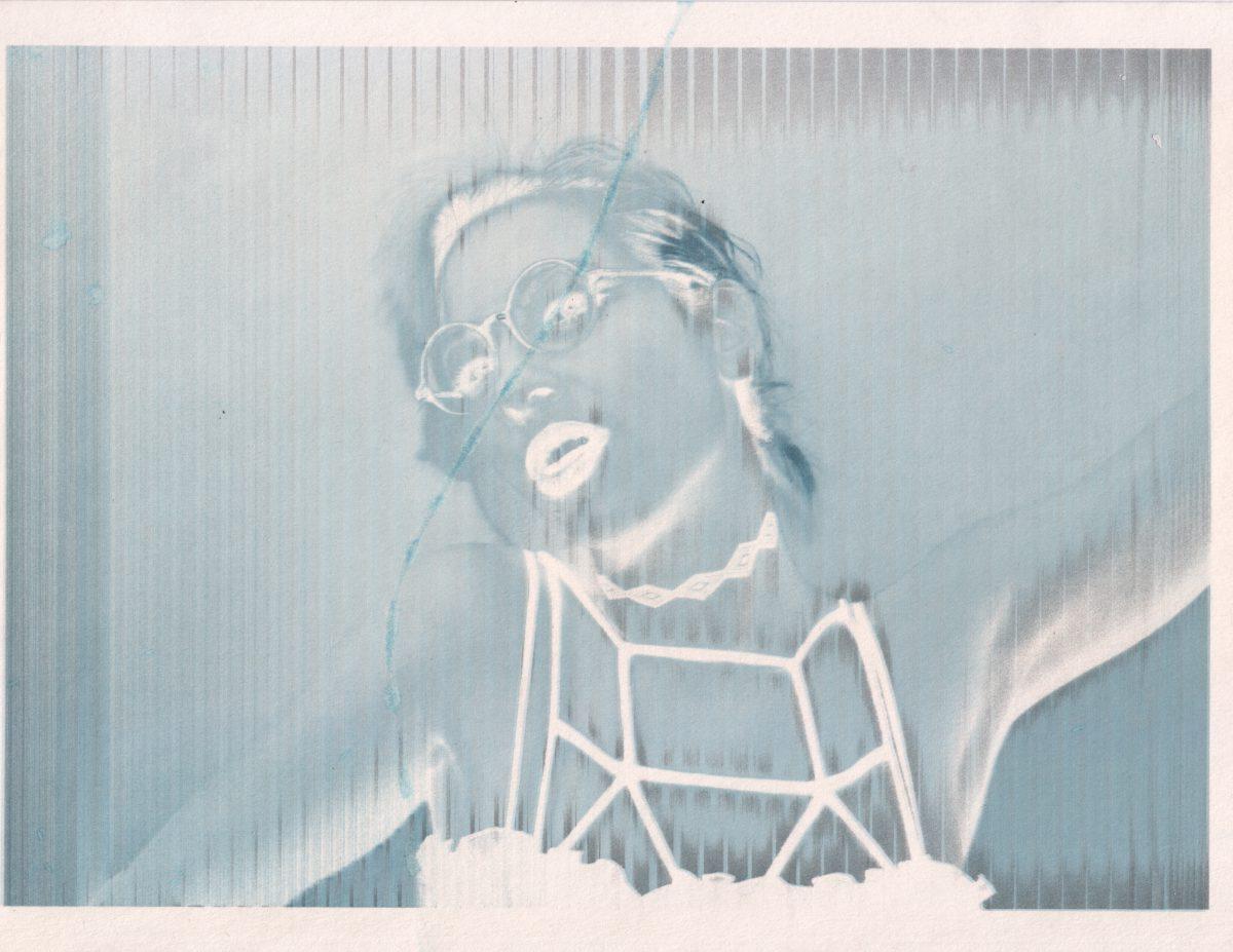 Erica - 28x22cm - Broken inject print, inkjet, glitch, print, ch3, portrait